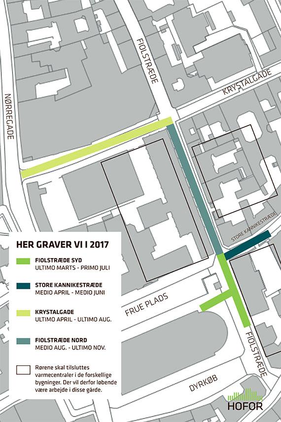 Billede af kort over gravearbejde i Fiolstræde