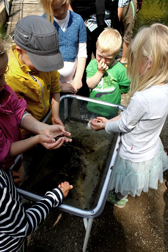 Børn til åbent hus hos Energi & Vand